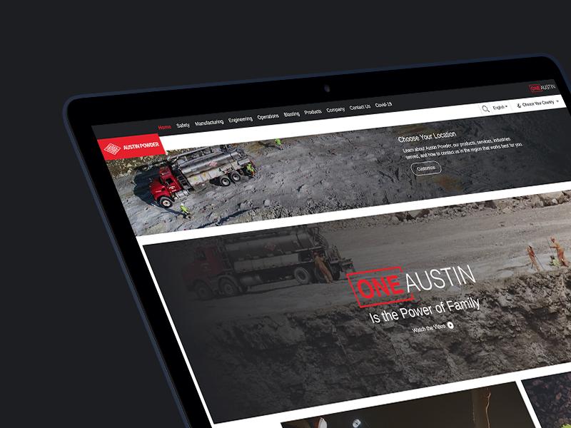 Austin Powder Website Portfolio cover image