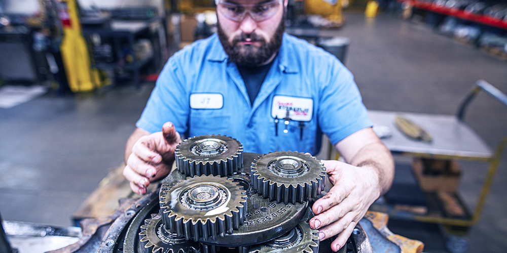 Man working on a motor