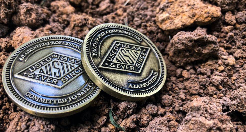 Austin Powder Safety Coin