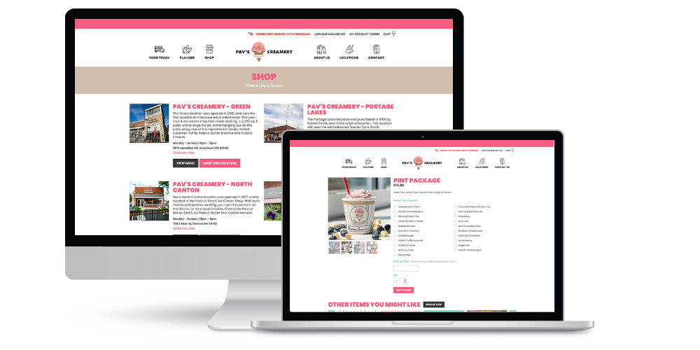 Pavs Creamery online shop