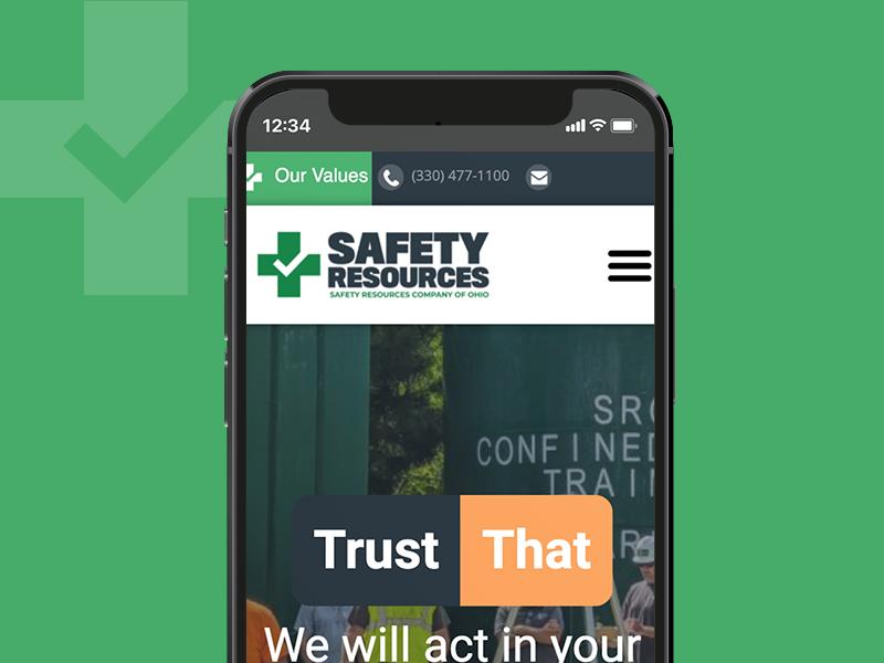 Safety Resource Website Portfolio cover image