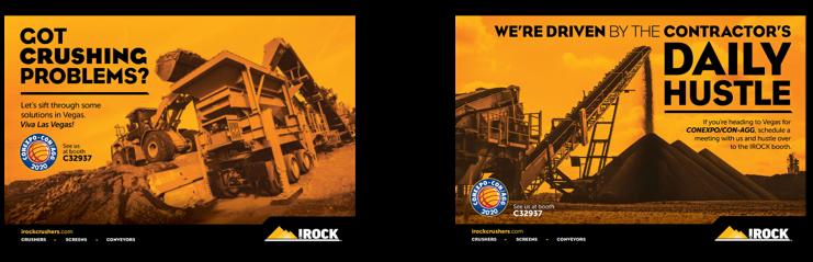 IROCK branded postcards