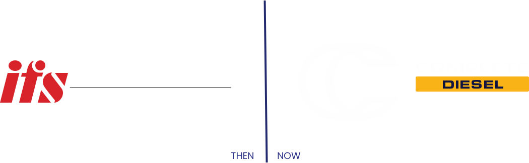 before and after of complete diesel logo