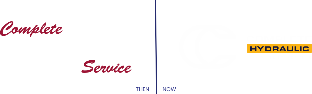 before and after of complete hydraulic logo
