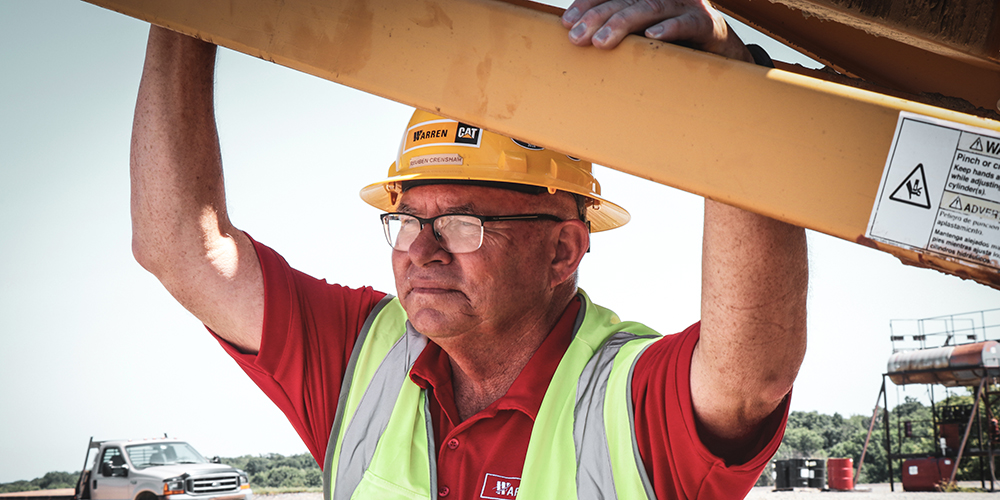 photo of a man on-site at a quarry