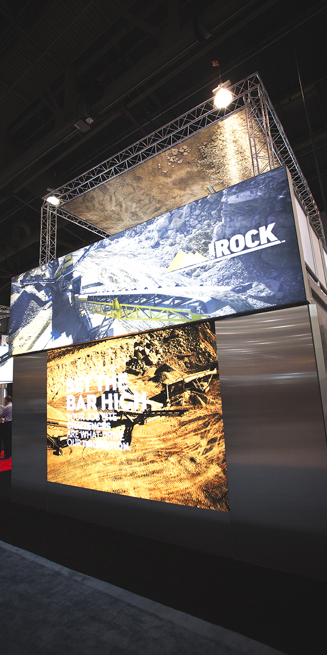 another view of the trade show booth at IROCK