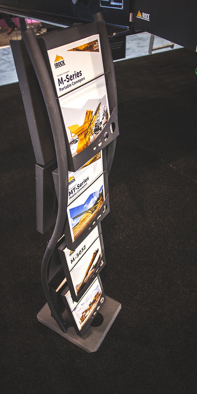 Flyers from the IROCK trade show booth