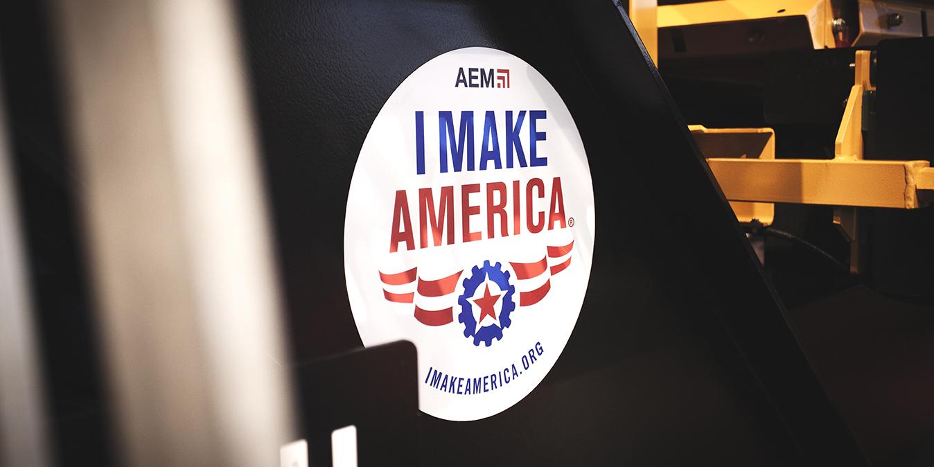 I make America sticker at IROCK trade show booth