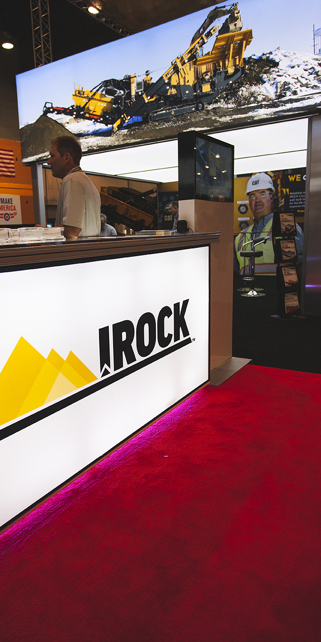 Front of the IROCK Trade Show Booth