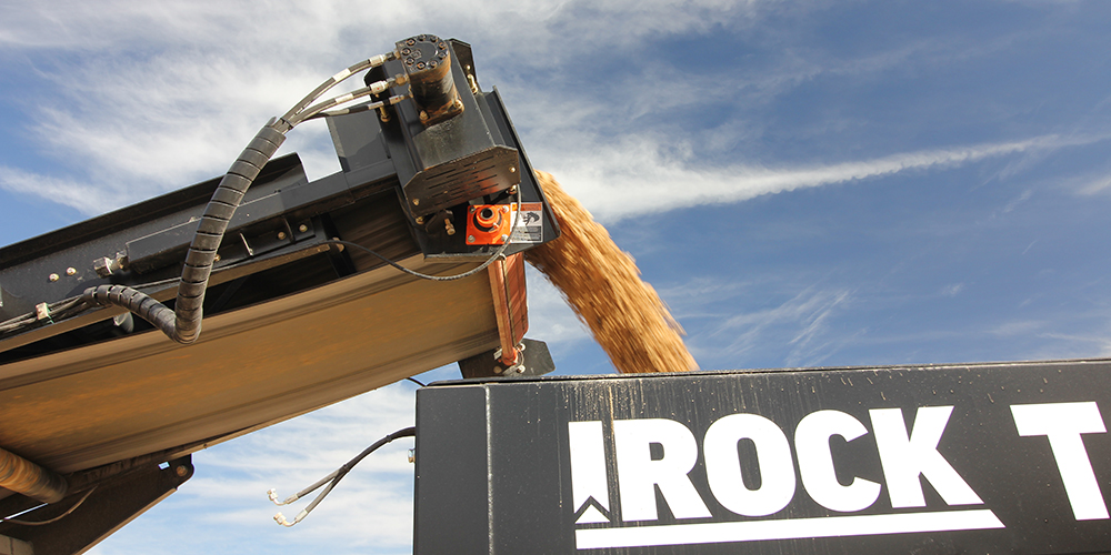 product being worked through an IROCK Crusher