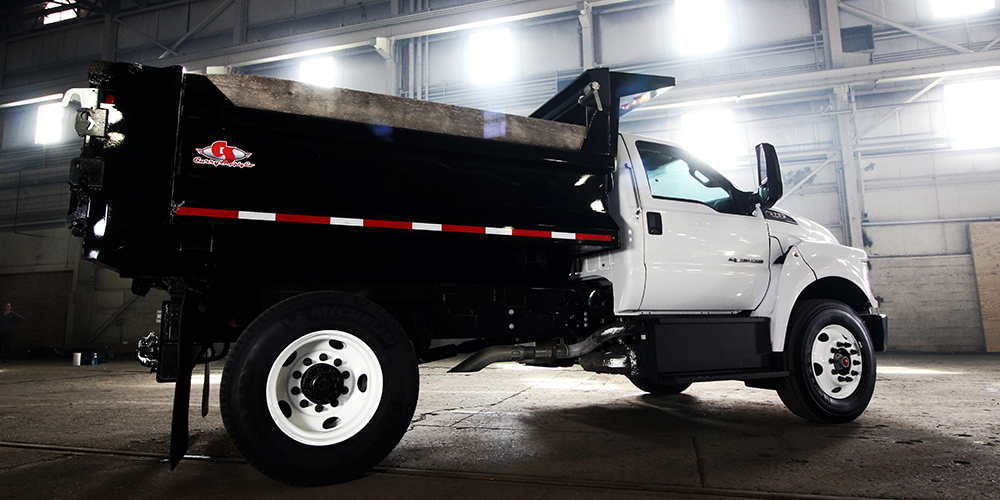 truck with a dump bed