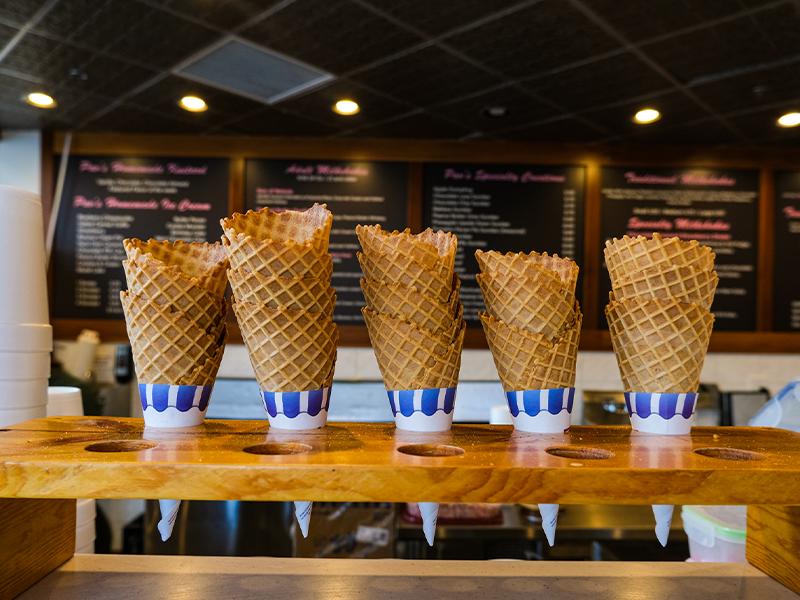 Header image of Pav's Creamery Ice cream cones