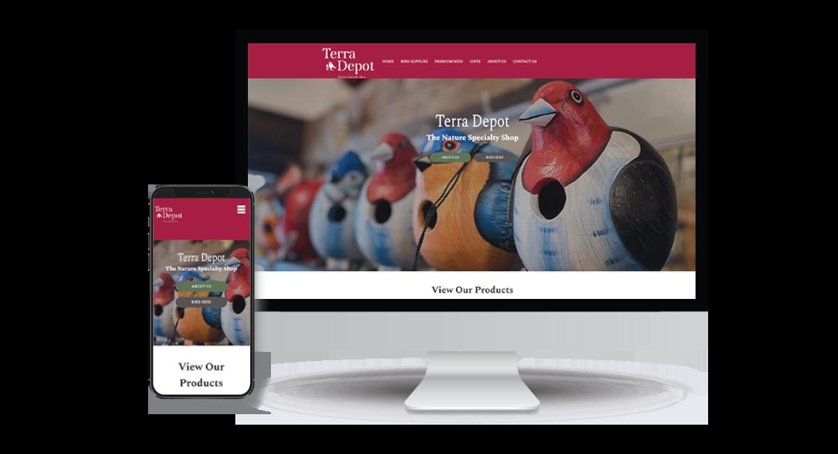 Terra Depot Homepage Example