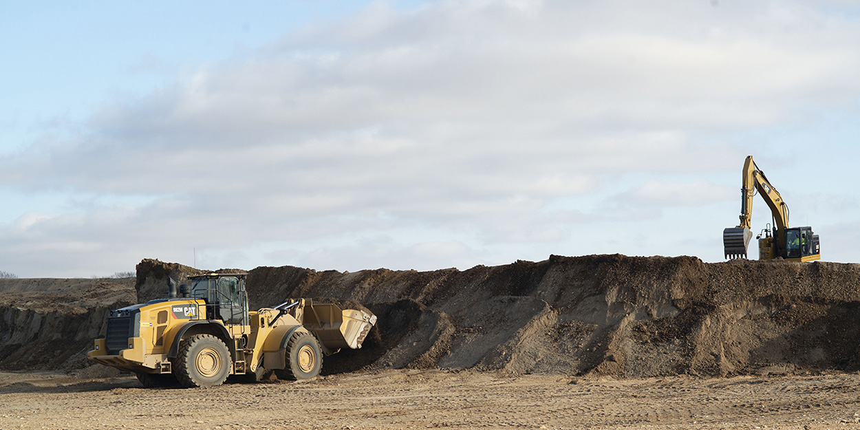 moving dirt at a US Aggregate location