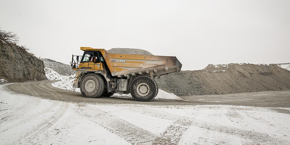 snowy quarry