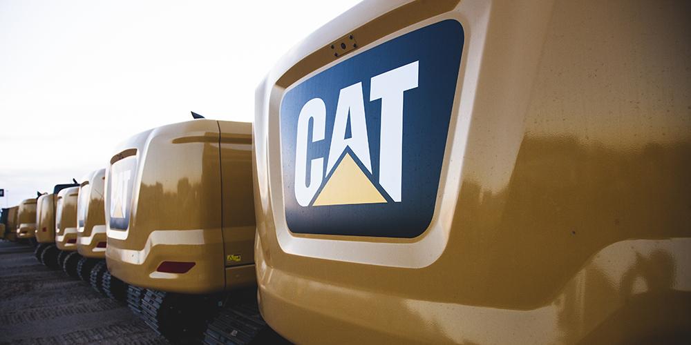 Line of CAT equipment