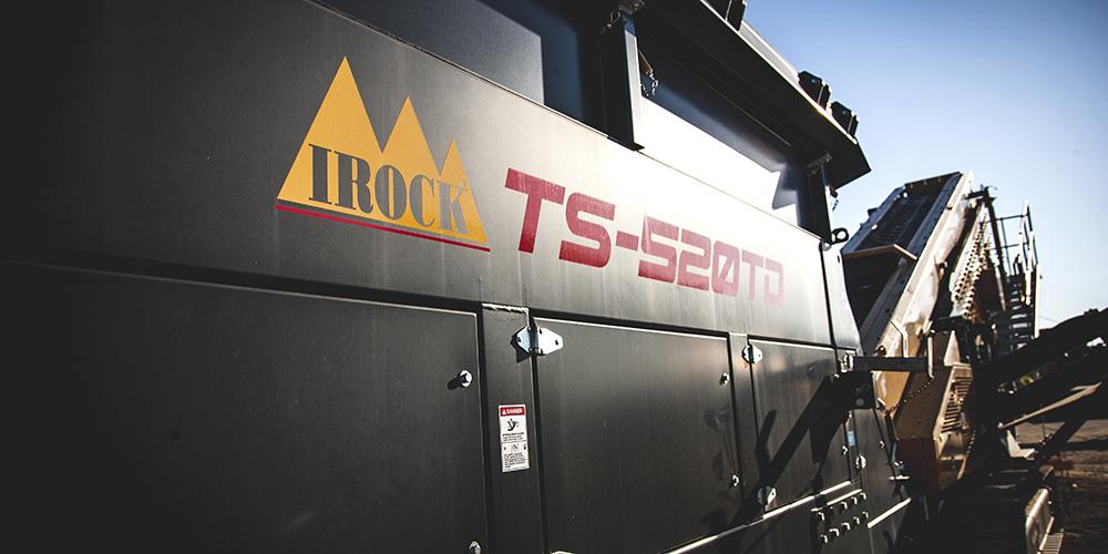 IROCK equipment with new logo